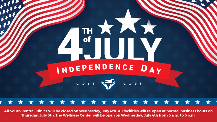 South Central Clinics Closed | July 4th | South Central Regional Medical  Center